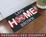 "Home Thin Red Line Personalized Doormat 23.6"" x 15.7"""