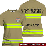 Firefighter Uniform Personalized Logo & Text 3D Tees
