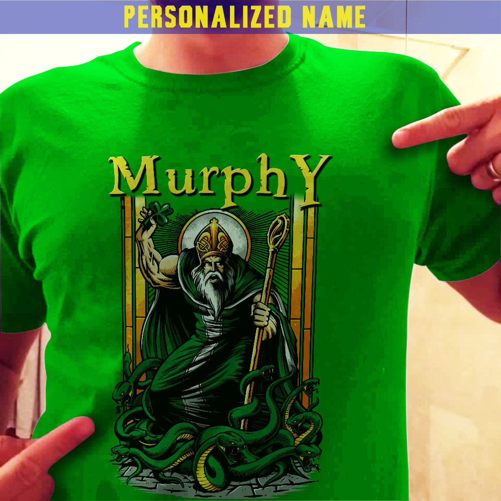 St. Patrick's Day Personalized Name Front Tees Hoodies