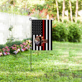 US Firefighter Garden Flag/Yard Flag 12 inches x 18 inches Twin-Side Printing