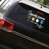 SAME CRIME Clear Sticker