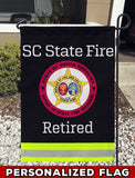 South Carolina State Fire Uniform Personalized Garden Flag/Yard Flag 12 inches x 18 inches Twin-Side Printing