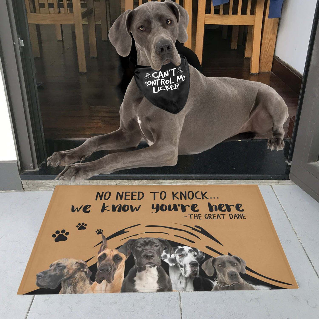 "NO NEED TO KNOCK GREAT DANE Doormat 23.6"" x 15.7"""