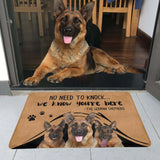 "NO NEED TO KNOCK GERMANSHEPHERD Doormat 23.6"" x 15.7"""