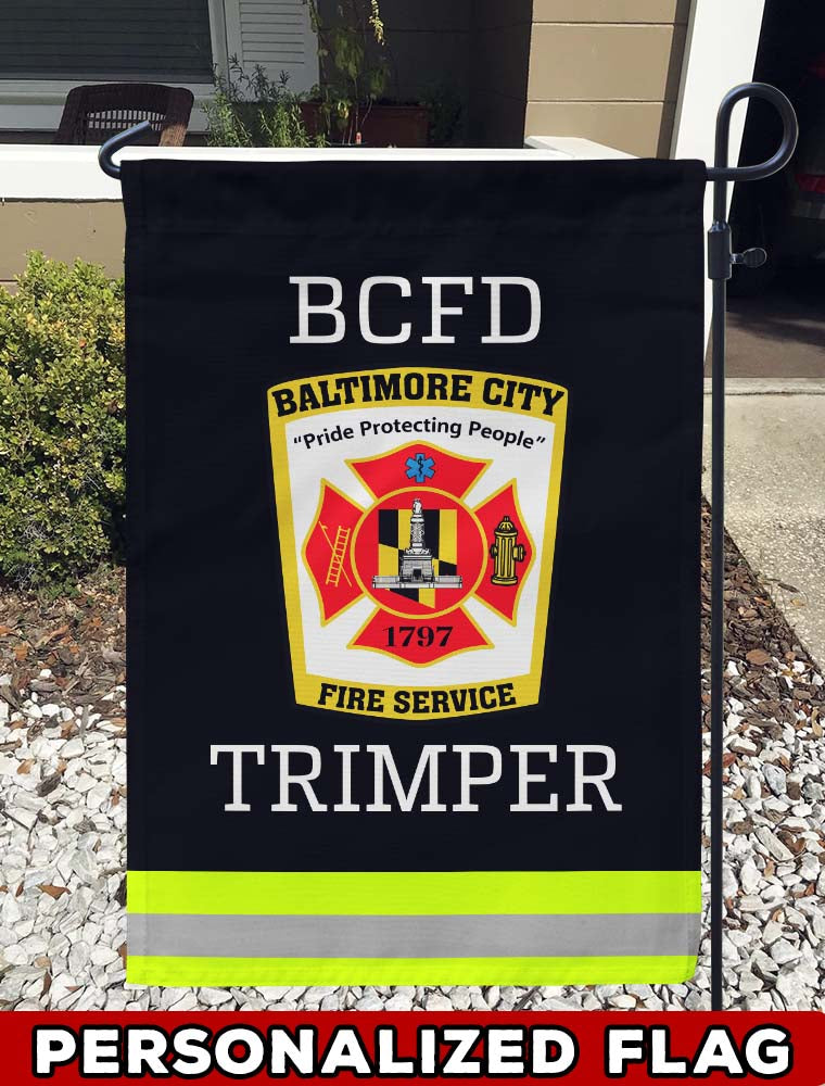 firefighter flag BALTIMORE FIRE SERVICE Uniform Personalized Garden Flag/Yard Flag 12 inches x 18 inches Twin-Side Printing