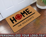 "Home Personalized Your Logo & Your Family Text Doormat 23.6"" x 15.7"""