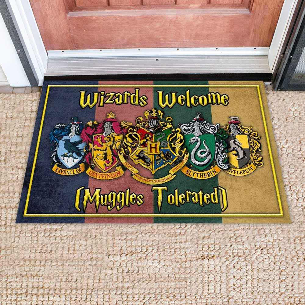 "Wizards Welcome - Doormat 23.6""x15.7"" (Made In USA)"