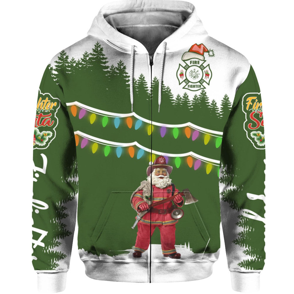 Santa Firefighter Sweatshirts Hoodies