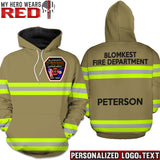 Firefighter Uniform Personalized Logo & Text 3D Hoodies - Stephen Edwards