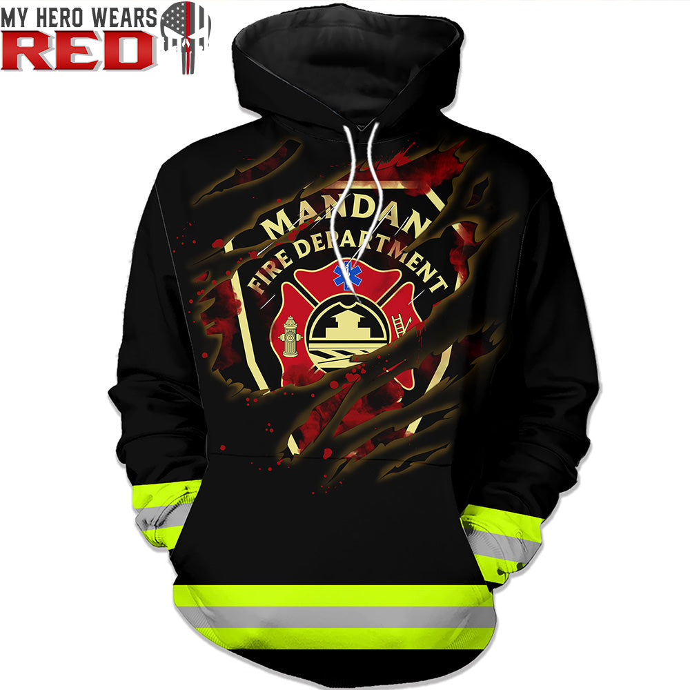 Fire Dept Personalized Logo 3D Tees Sweatshirts Hoodies
