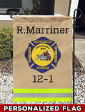 Englishtown Fire Dept Uniform Personalized Garden Flag/Yard Flag 12 inches x 18 inches Twin-Side Printing