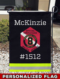Anne Arundel County Fire Dept Station 8 Uniform Personalized Garden Flag/Yard Flag 12 inches x 18 inches Twin-Side Printing