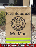 EVIT Fire Science Academy Uniform Personalized Garden Flag/Yard Flag 12 inches x 18 inches Twin-Side Printing