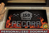 Welcome Firefighter Personalized Doormat 23.6