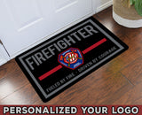 "Fueled By Fire Driven By Courage Personalized Doormat 23.6"" x 15.7"""