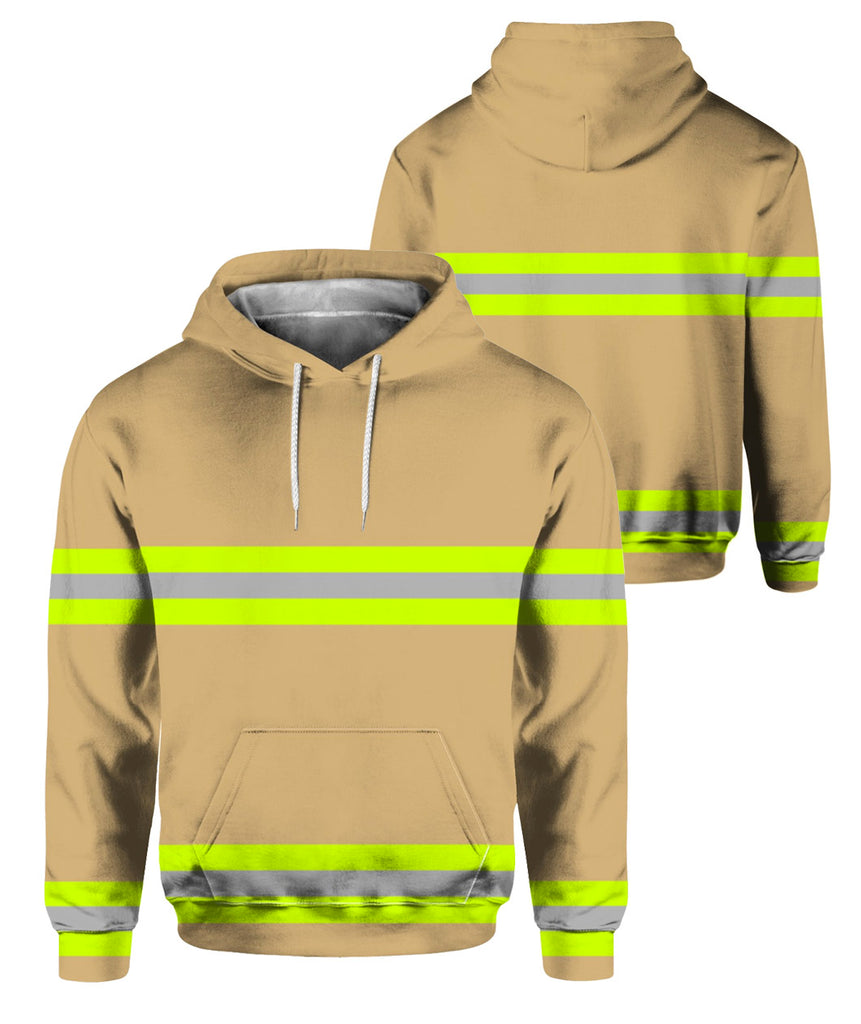 Skull Camouflage Firefighter 3D Hoodies