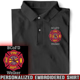 Firefighter Logo Personalized Polo Shirt