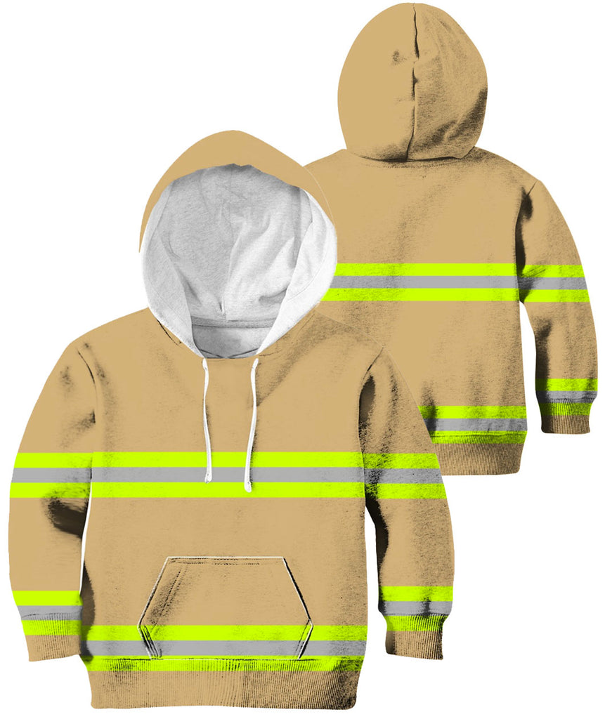 Firefighter Uniform 2 Line 3D Hoodies