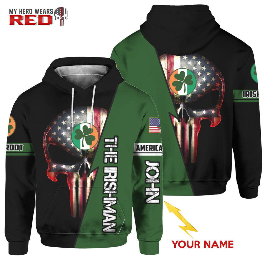 Irishman Personalized Name 3D Hoodies