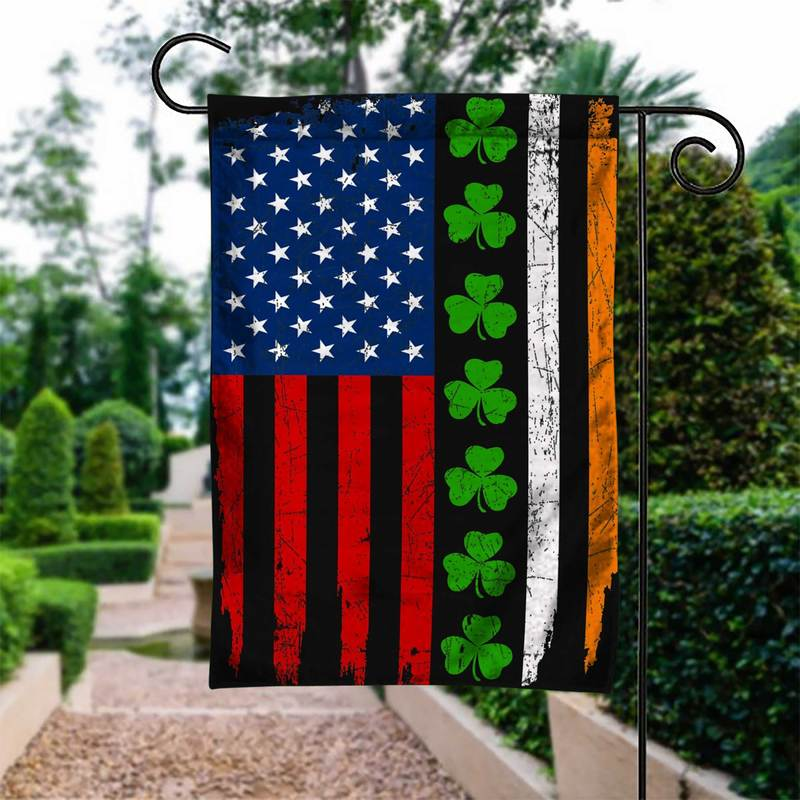 IRISH LUCKY Garden Flag/Yard Flag 12 inches x 18 inches Twin-Side Printing