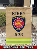 San Antonio Fire Dept Uniform Personalized Garden Flag/Yard Flag 12 inches x 18 inches Twin-Side Printing