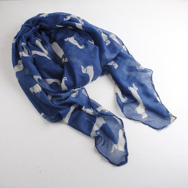 new fashion 10 color Animal Dachshund Dog Print Scarf Pashmina women scarves