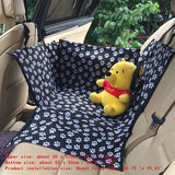 Dog Carrier Oxford Fabric Paw Car Seat Cover Waterproof Dog Bed Mat Hammock Protector with Safety Belt Travel Bag for Large Dog
