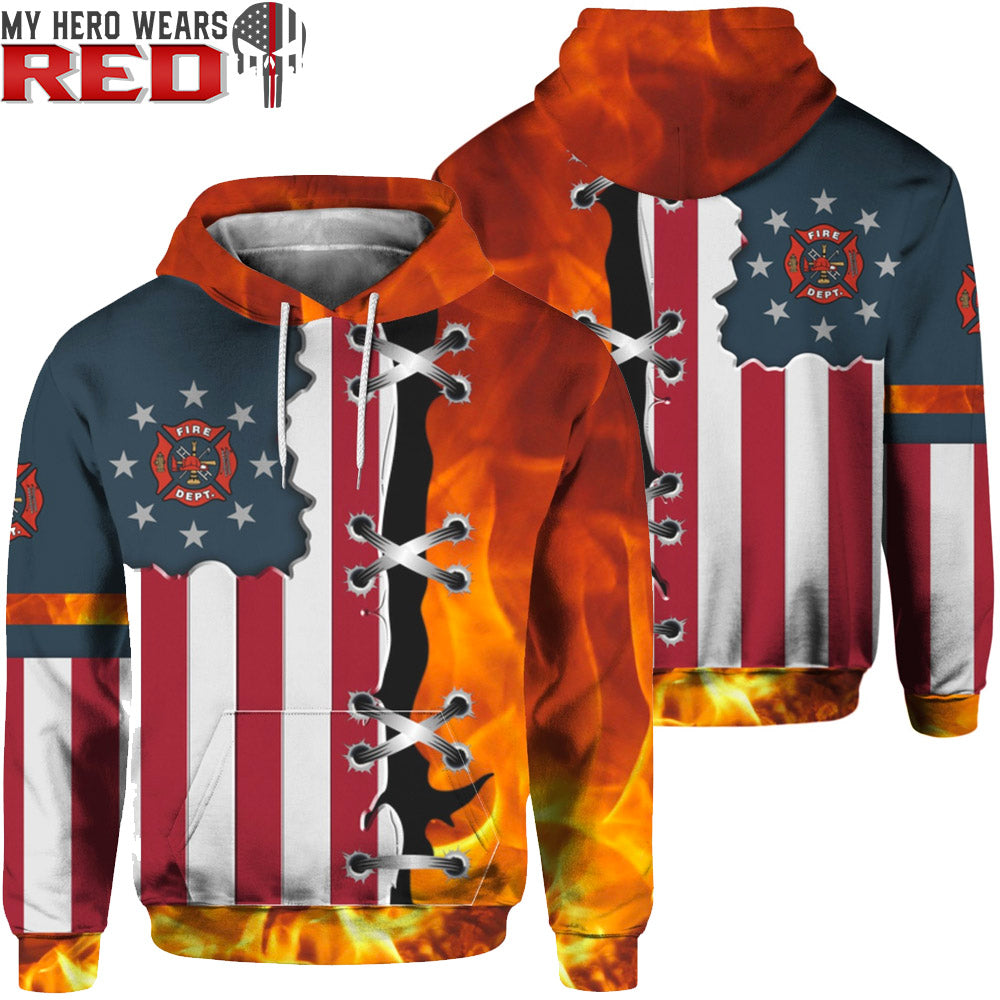 Fire Dept Logo 3D Tees Sweatshirts Hoodies