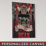 "Firefighter Mask Personalized Canvas Print 16""x20"""
