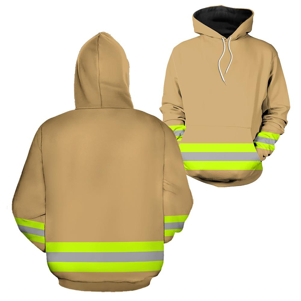 Firefighter Skull Fire Dept 3D Hoodies And Charm