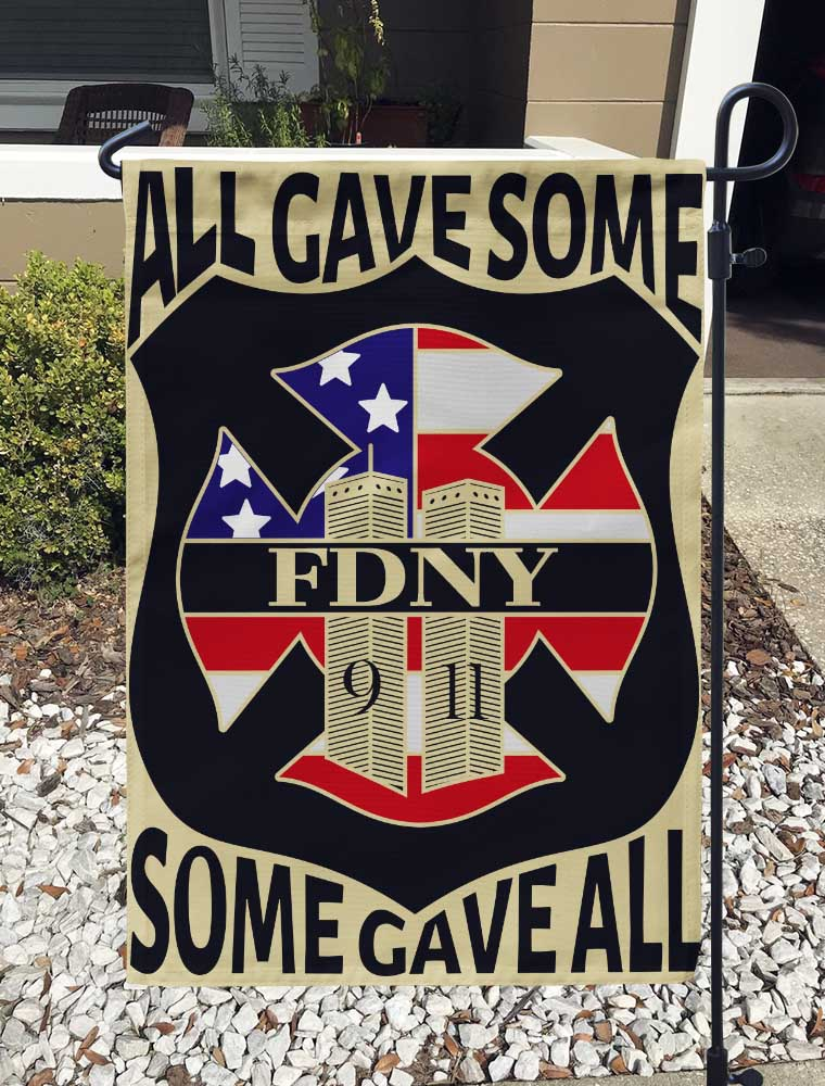 All Gave Some Some Gave All Garden Flag/Yard Flag 12 inches x 18 inches Twin-Side Printing
