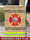 Wilmington Fire Dept Uniform Personalized Garden Flag/Yard Flag 12 inches x 18 inches Twin-Side Printing