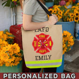 Female Firefighter Uniform Personalized Bag
