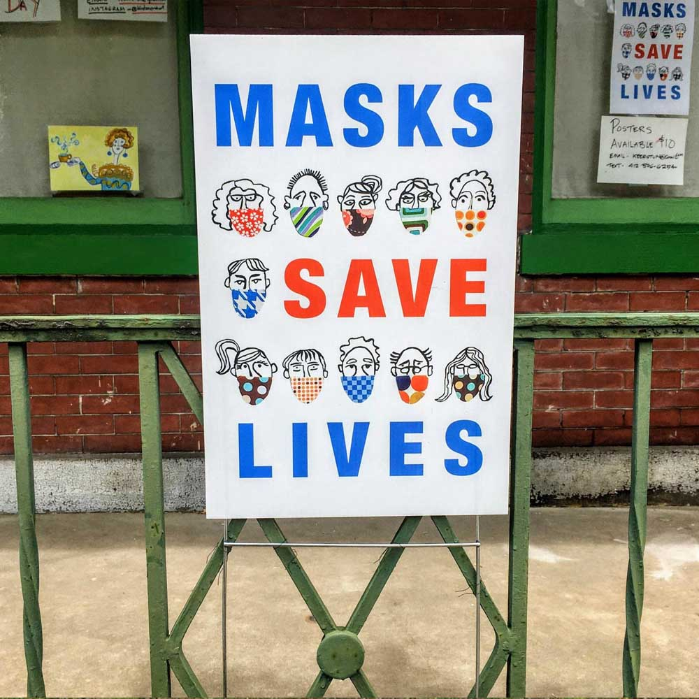 "Masks Save Lives Yard Sign 18"" x 24"""