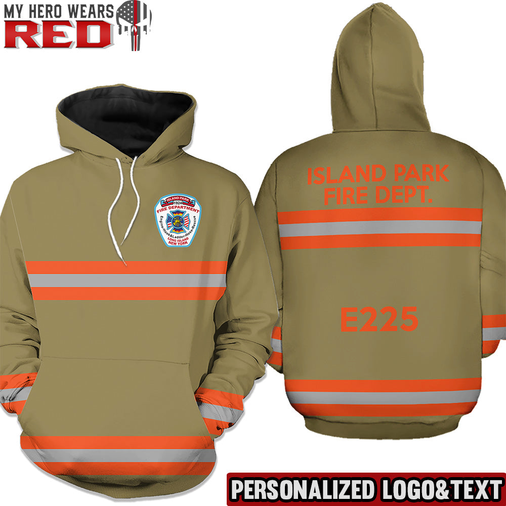 Firefighter Uniform New Personalized Logo & Text 3D Hoodies