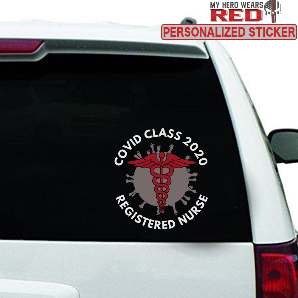 COVID CLASS 2020 Personalized Clear Sticker