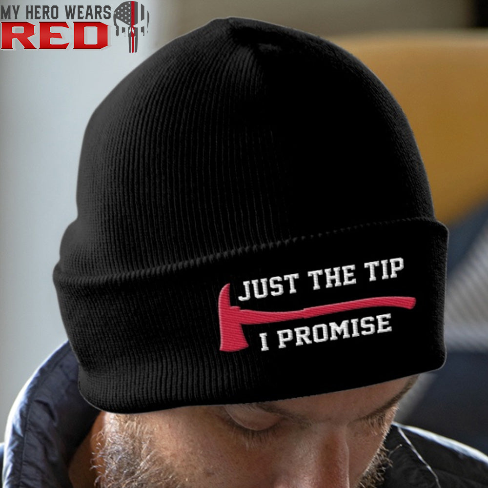 JUST THE TIP I PROMISE Embroidery Knit Beanie