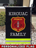 Spencer Fire Dept Uniform Personalized Garden Flag/Yard Flag 12 inches x 18 inches Twin-Side Printing
