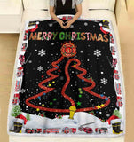 "Firefighter Christmas - Ultra-Soft Micro Fleece Blanket 60"" x 80"""
