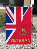 British Army Veteran Garden Flag/Yard Flag 12 inches x 18 inches Twin-Side Printing