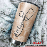 Personalized Stainless Steel Tumbler for Nurse