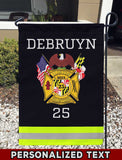Clinton Volunteer Fire Department Uniform Personalized Garden Flag/Yard Flag 12 inches x 18 inches Twin-Side Printing