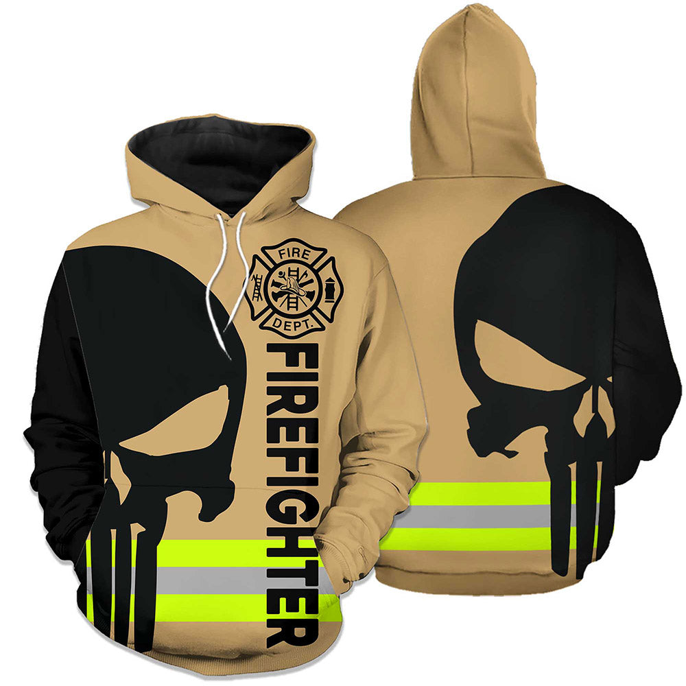 Firefighter Skull Fire Dept 3D Hoodies