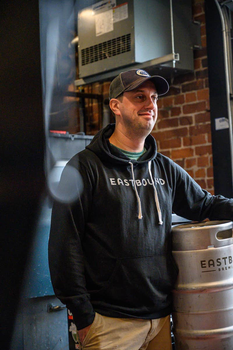 grey eastbound brewery company hoodie