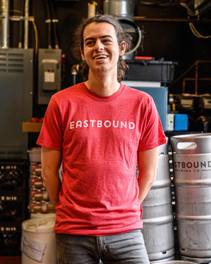 eastbound brewing company, toronto, brewpub, brewery, craft beer, riverside, beer, t-shirt, shirt, red
