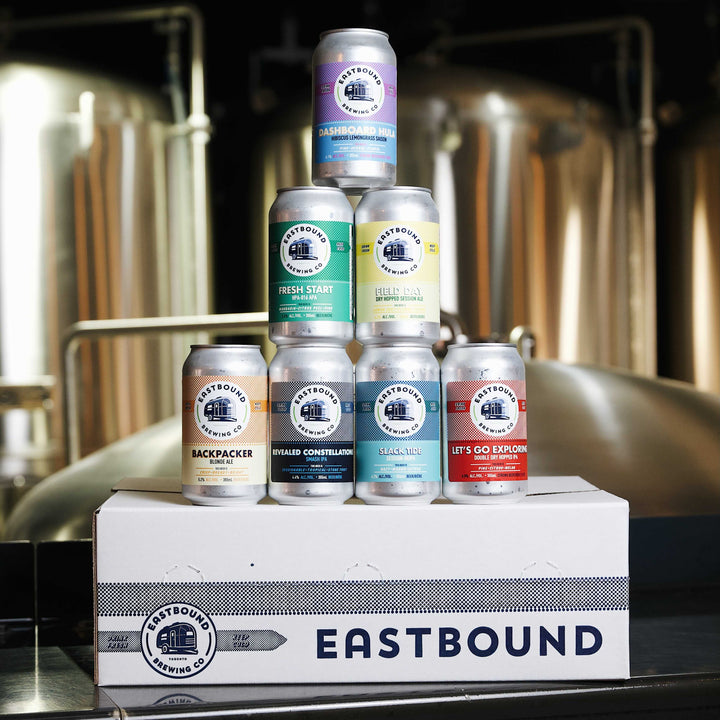 Eastbound Brewing Company, brewpub, brewery, beer, mixed case, a little bit of everything, mix pack, variety