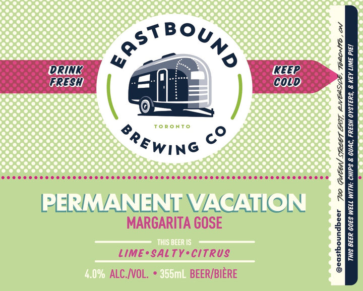 Permanent Vacation Margarita Gose Sour - CROWLER (950mL)