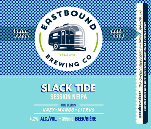 Slack Tide NEIPA, beer, brewery, Eastbound Brewing Co., brewpub, toronto