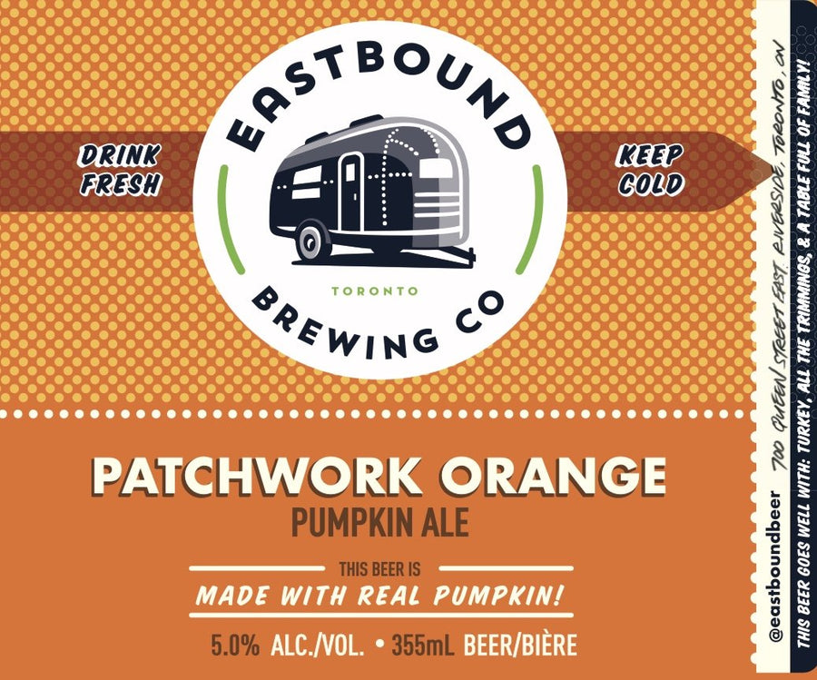 Patchwork Orange Pumpkin Ale - CROWLER (950mL)