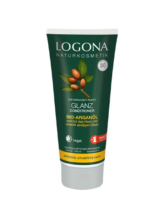 Naturkosmetik Glanz Conditioner Bio-Arganöl 200 ml von Logona